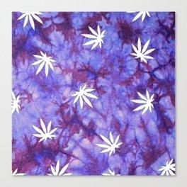 Tie Dye Purple Weed  Canvas Print