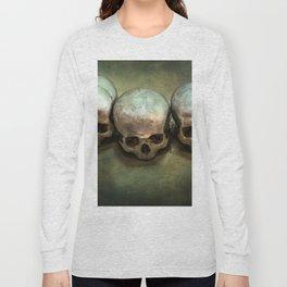 Three human skulls Long Sleeve T-shirt