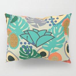 Monstera, fruits and flowers Pillow Sham