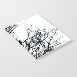 Dove Bird & Winter tree Silhouette Notebook
