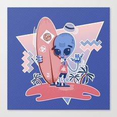Alien Surf - Serenity & Rose Quartz Canvas Print