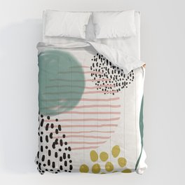 Abstract Modern Pattern 7 Comforters