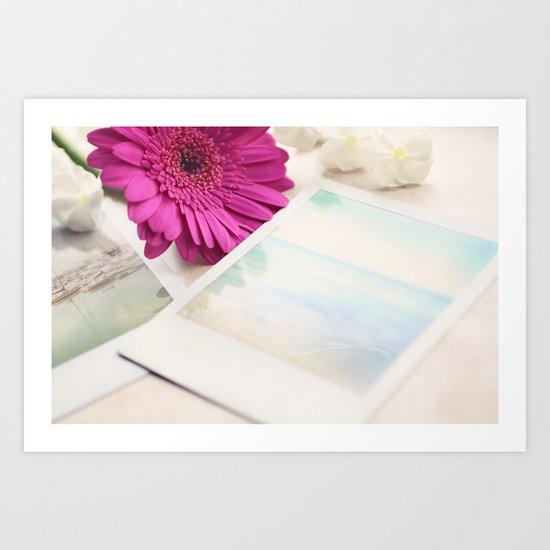Gerbera, Phlox and Polaroids Art Print