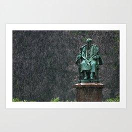 Monument in the rain | Denkmal im Regen Art Print