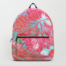 Blue Water Hibiscus Snowfall Backpack