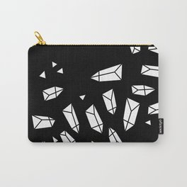 White Crystals on Black/Transparent Carry-All Pouch