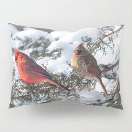 Sunny Winter Cardinals (square) Pillow Sham