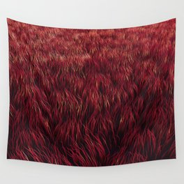 Red Grass Wall Tapestry