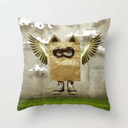 Fly try Throw Pillow