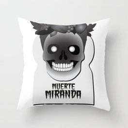 Muerte Miranda Throw Pillow