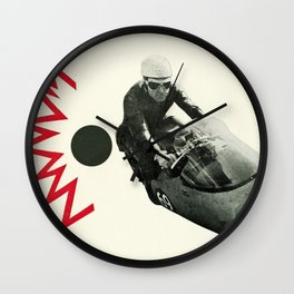 Motorcycle Madness Wall Clock