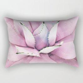 Pink Succulent Rectangular Pillow