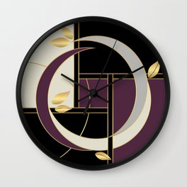 Leaves falling on Rodeo Drive Wall Clock