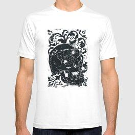 Black Lino Skull T-shirt