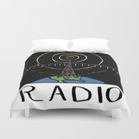 radio Duvet Covers featuring Radio by Ken Coleman