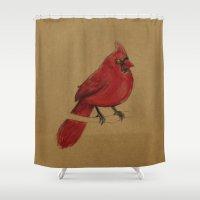 cardinal Shower Curtains featuring Cardinal by Jenji