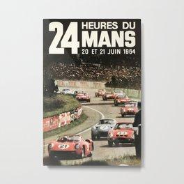 Le Mans 1964, Le Mans poster, Le Mans t shirt, Race poster, Metal Print