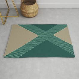 Green Criss Cross Diamond Rug