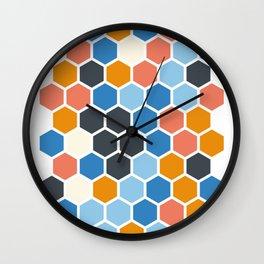 Texture hexagons - SummerColors Wall Clock