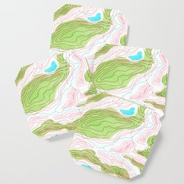 Let's go hiking - topographical map Coaster