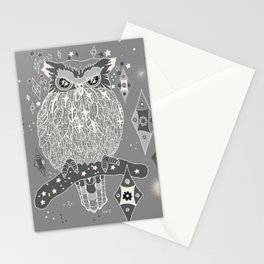 Silver night Stationery Cards
