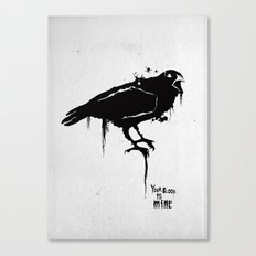 A Crow Canvas Print