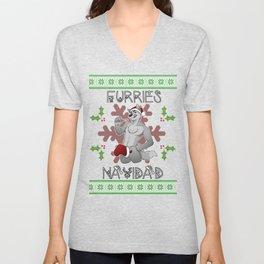 Furries Navidad Unisex V-Neck