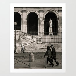 Priest Passing By, Rome Art Print