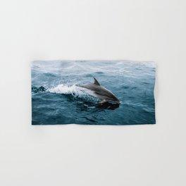 Dolphin in the Atlantic Ocean - Wildlife Photography Hand & Bath Towel