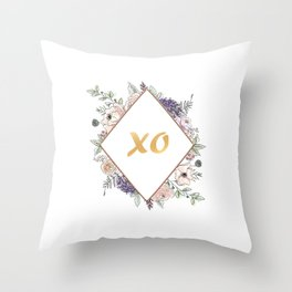 Lettering and Watercolor Flowers #3 Throw Pillow