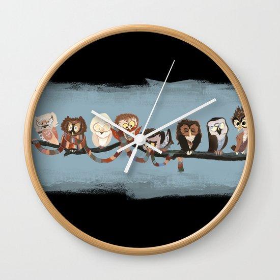 Doctor Hoo - Painted Version Wall Clock