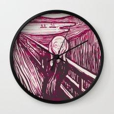 The Scream's Haze (pink) Wall Clock