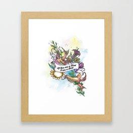 Birds and Flowers Poster Framed Art Print
