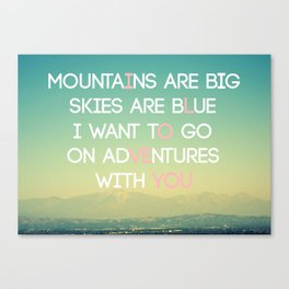 Adventures and I Love You (MODERN) Canvas Print
