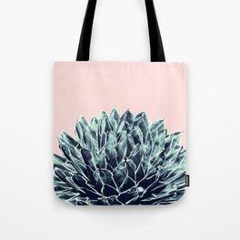 Blush Navy Blue Agave Chic #1 #succulent #decor #art #society6 Tote Bag