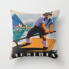 Vintage poster - Austria Throw Pillow