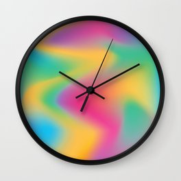Holographic vibes Wall Clock