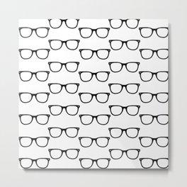 Black Funky Glasses Metal Print
