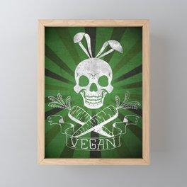 Vegan Pirate, Healthy Lifestyle Framed Mini Art Print