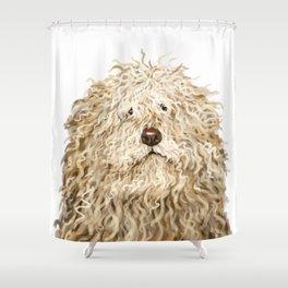 Cute Puli Dog Shower Curtain