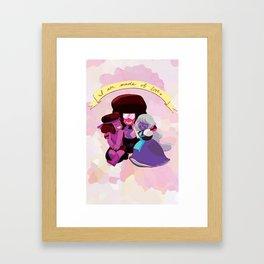 I Am Made of Love - Garnet Print Framed Art Print