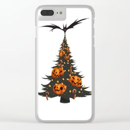 Halloween Christmas Tree - White Clear iPhone Case