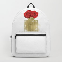 Red Roses & Fashion Perfume Bottle Backpack
