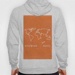 Adventure Map - Retro Orange Hoody
