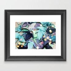 Senbazuru | shades of blue Framed Art Print