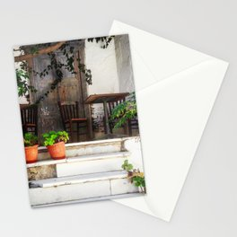 A quiet doorway in Naxos Stationery Cards