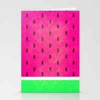 watermelon Stationery Cards featuring Watermelon by M Studio