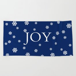 Winter Joy - navy blue - other colors Beach Towel