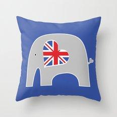 Earl Grey Elephant 2 Throw Pillow