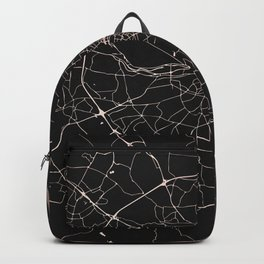 Black on Rosegold Dublin Street Map Backpack